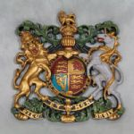 Medium Coloured Coat of Arms Wall Plaque Royal Warrant Crest British